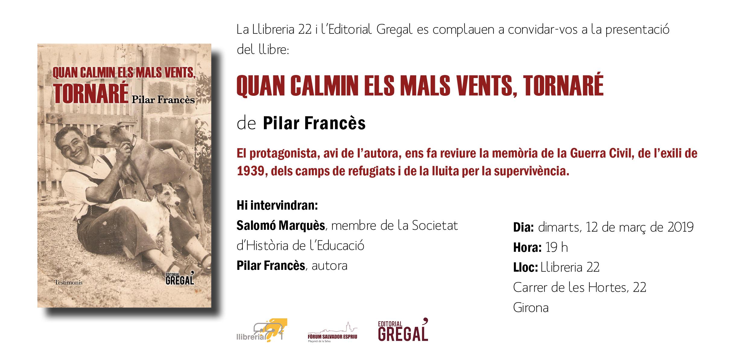 Invitació QUAN CALMIN ELS MALS VENTS_Girona