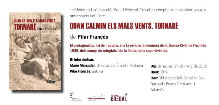 Invitació QUAN CALMIN ELS MALS VENTS_Palamós