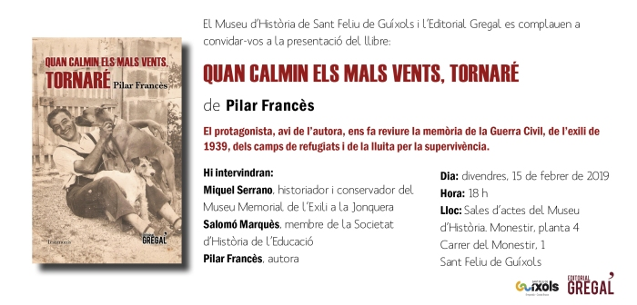 Invitació QUAN CALMIN ELS MALS VENTS_Sant Feliu de G.