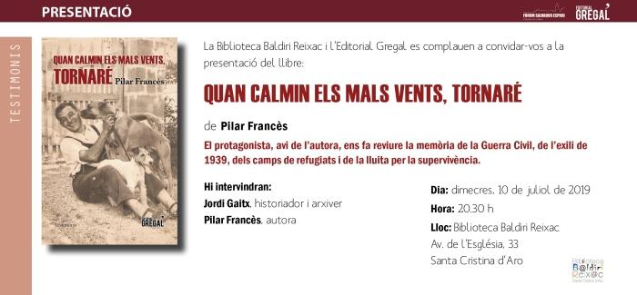Invitació QUAN CALMIN ELS MALS VENTS, TORNARÉ_Santa Cristina d'Aro.jpg