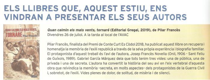 Presentació Calella Palafrugell Es Còdol