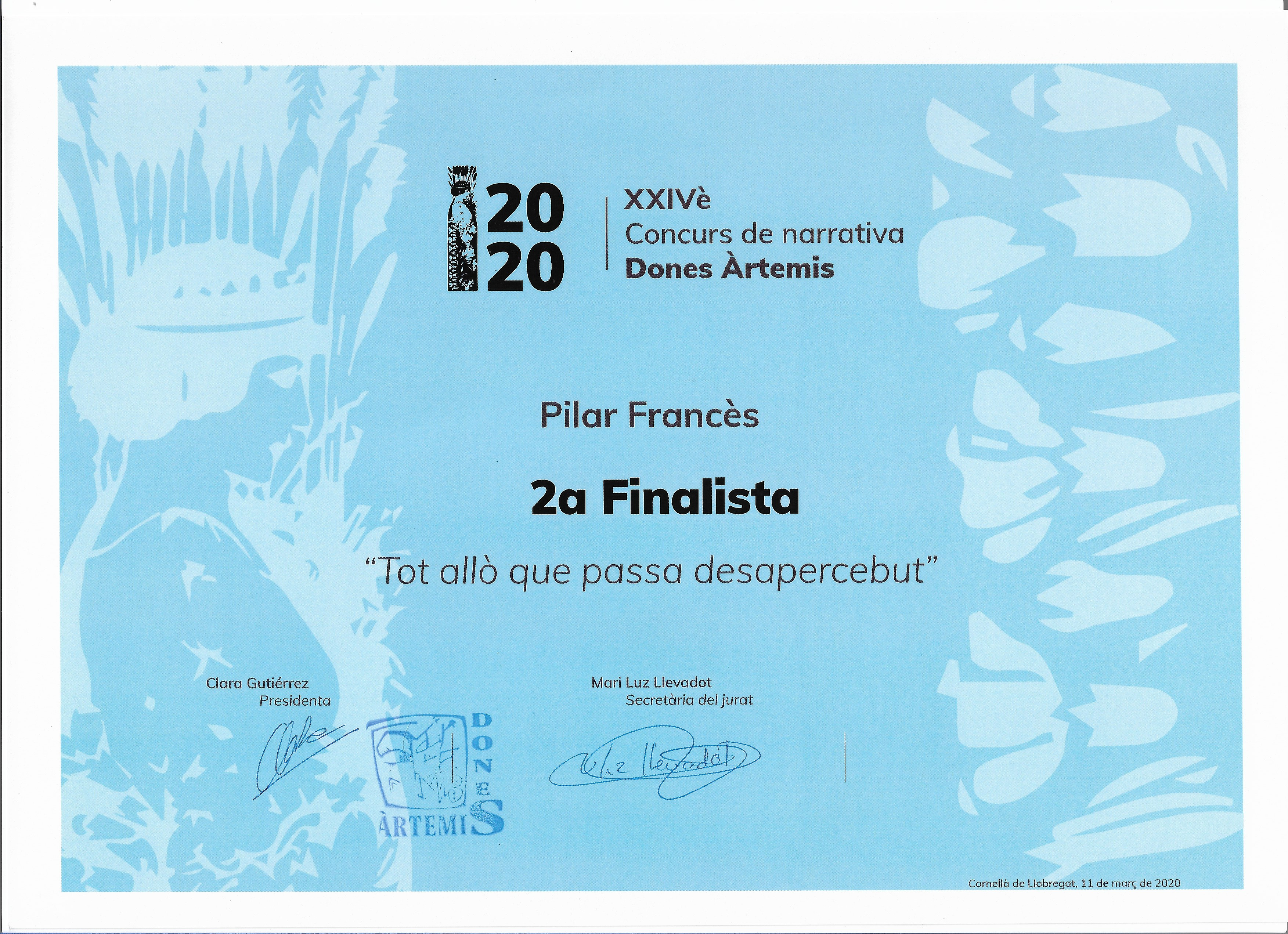 Diploma 2a Finalista 2020